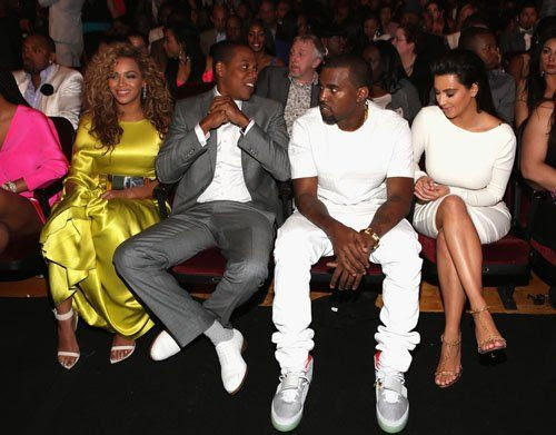 BET Awards - July 1, 2012, Beyonce, Jay Z, Kim Kardashian, Kanye West