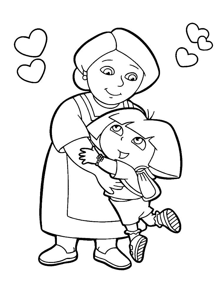 Dibujos Para Colorear Dora La Exploradora Imprimir Gratis
