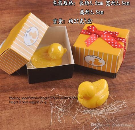 Wedding Favors Wedding Supplies Yellow Duck Soap Gift Box