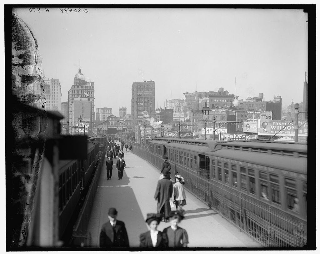 Construction of the Brooklyn Bridge began in 1869 and was open to traffic by 1883.