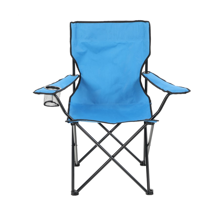 Shop Garden Treasures Blue Steel Camping Chair at Lowes.com
