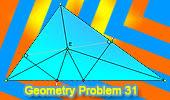 Problema 30: Triángulo rectángulo, Incentro, Inradio, Perpendiculares.