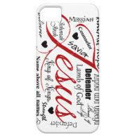 The Name of Jesus iPhone 5 Cases