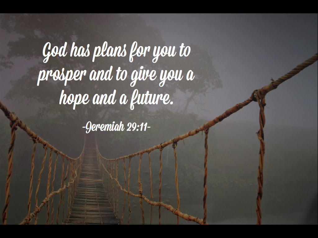 God Has Plans For You To Prosper And To Give You A Hope And A Future