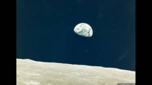 Salida de la Tierra. Fotografía de William Anders. Diciembre de 1968.