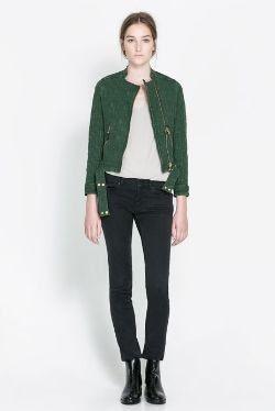 Zara Jacquard Jacket with Zips