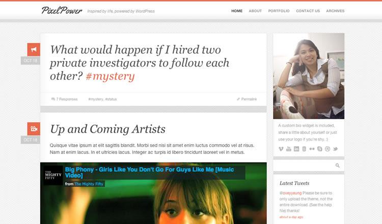 PixelPower - Best Responsive WordPress Theme 2012