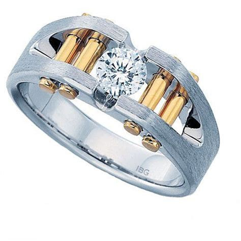 Amazon.com: Men's 14k Two Tone Gold Split Shank Diamond
