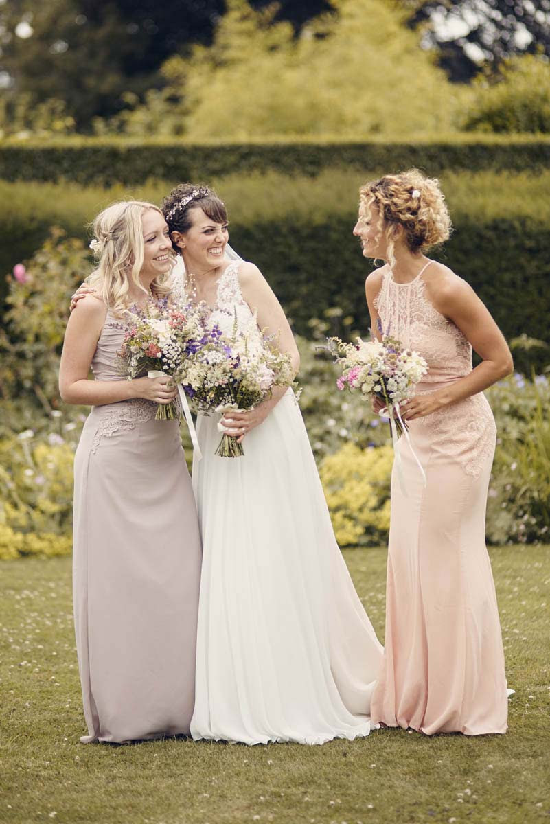 Suffolk Woodland Fairy Wedding - Bride and Bridesmaids at Otley Hall - www.helloromance.co.uk