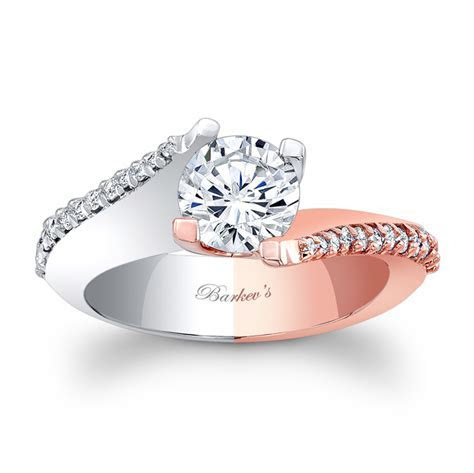 Barkev's White & Rose Gold Engagement Ring 7928LT   Barkev's