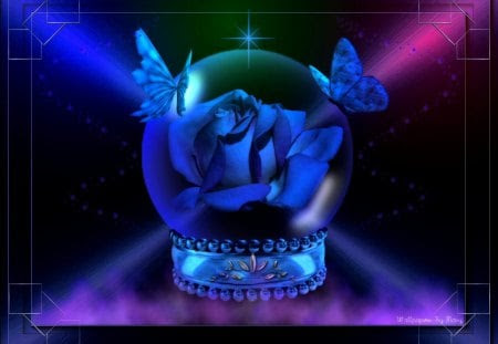 Glowing Blue Rose 1600x1200 - Flowers & Nature Background ...