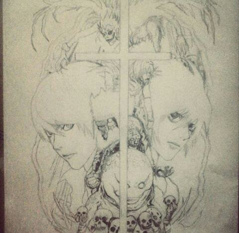 Dibujo De Death Note Con Proceso Anime Amino
