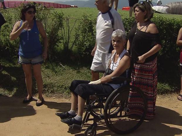 Maria Aparecida convenceu família a deixá-la saltar de paraglider (Foto: Reprodução / TV Tribuna)