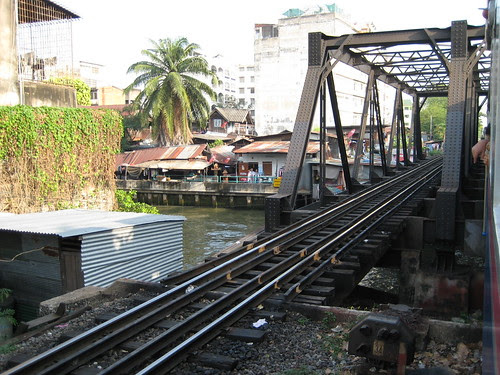 Rail bridge across a Bangkok canal 1