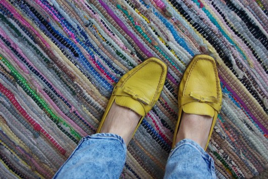 Yellow brogues
