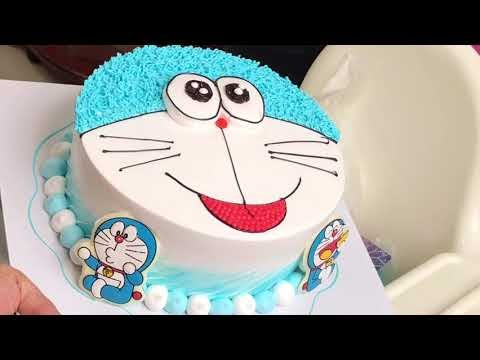 Cách làm bánh kem doremon đơn giản đẹp #3 - how make doremon birthday cake