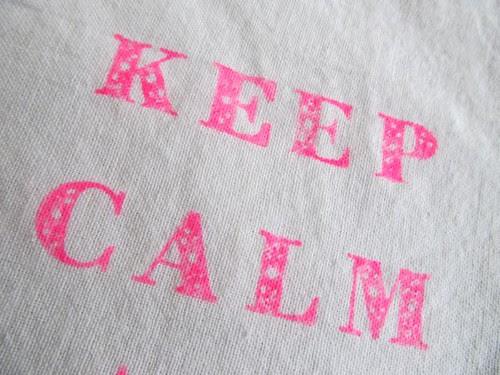 Keep Calm Close Up