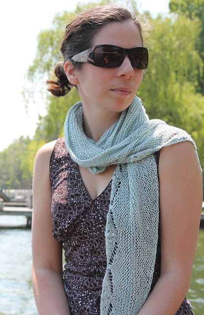Spumante- A Beaded Garter Stitch Shawl