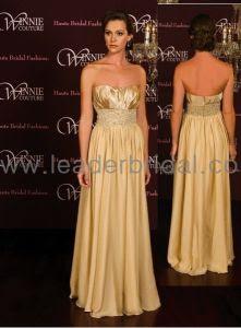 Gold formal evening dresses