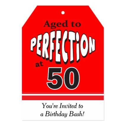 Aged to Perfection at 50 | 50th Birthday 5x7 Paper Invitation Card
