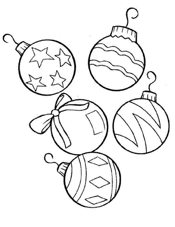 Printable Christmas Ornaments For Kids - Coloring Home