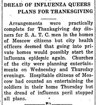 Spanish flu article from The Argonaut. (November 27, 1918)