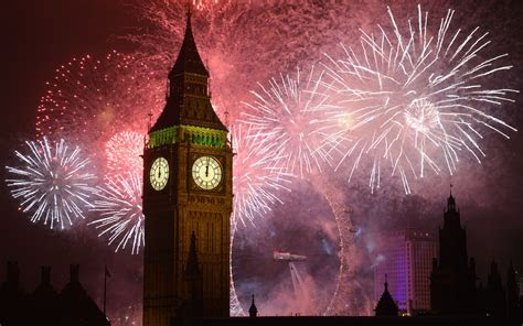 years eve fireworks big ben clock  london desktop wallpaper hd  mobile phones