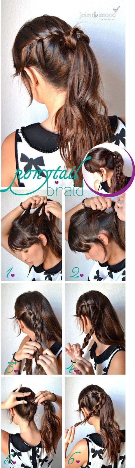 Braided ponytail DIY hair tutorial !! ♥