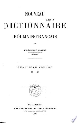 Telecharger Nouveau Dictionnaire Roumain Francais Livre En