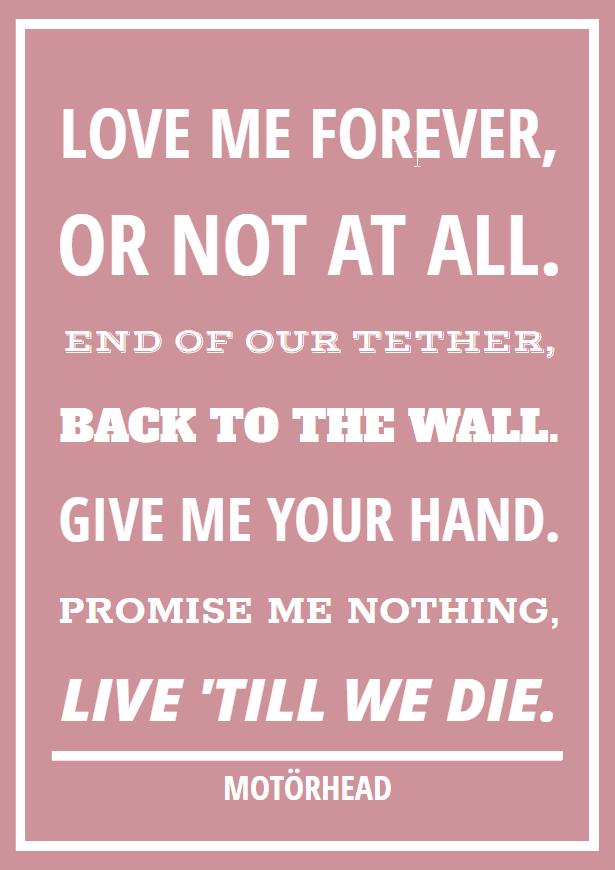 12 Metal Rock Rap En Hiphop Quotes Voor Je Valentijn