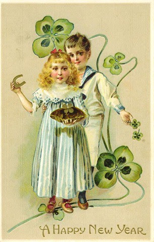 new years children shamrocks