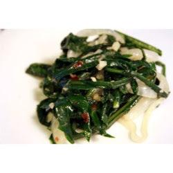 Dandelion Greens with a Kick Recipe