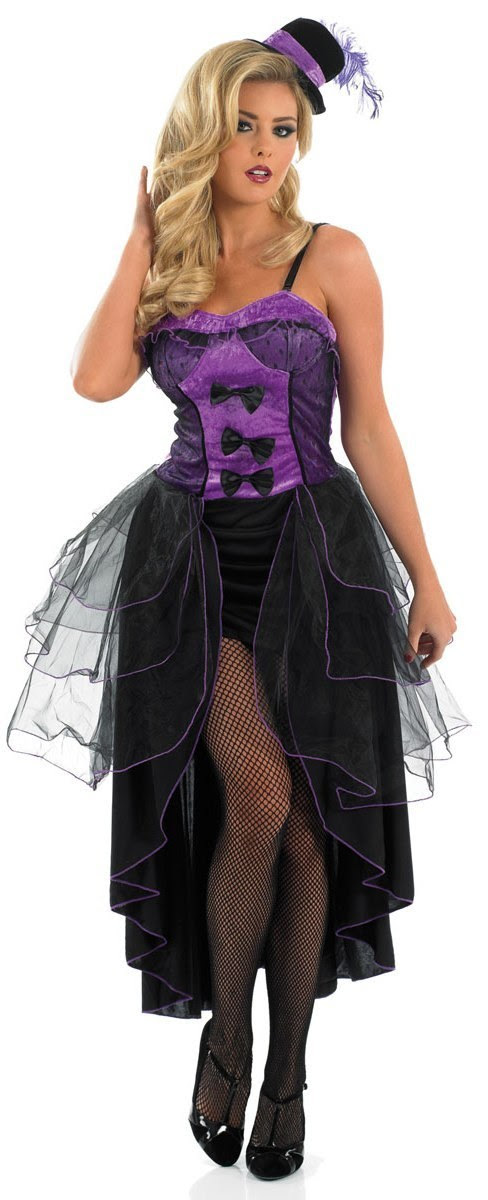 purple burlesque costume for ladies