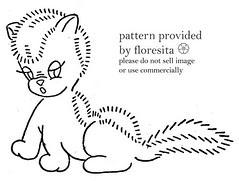 Mailorder 86 - weird squirrel-cat-skunk pattern