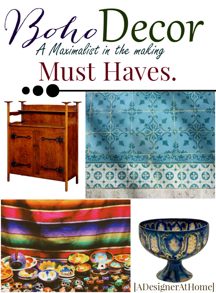 Boho Decor - a maximalist in the making's must haves
