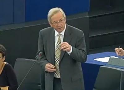 Jean Claude Juncker na resposta a Miguel Portas.