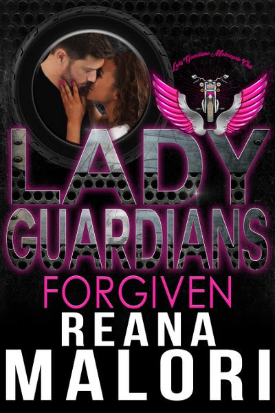 Book Cover for contemporary mc romance, Forgiven from the Lady Guardians series by Reans Malori.