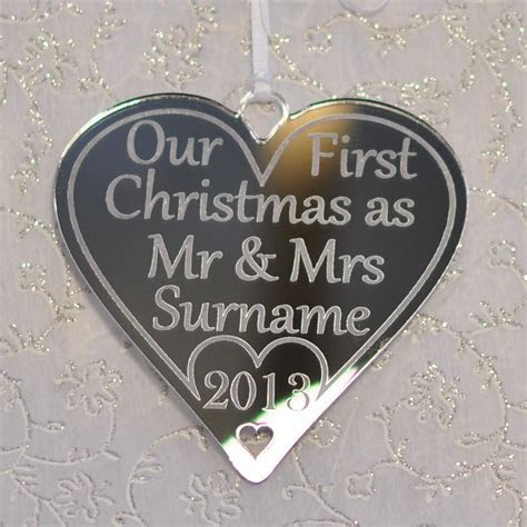 Our First Christmas Mr & Mrs Personalised Tree Decoration