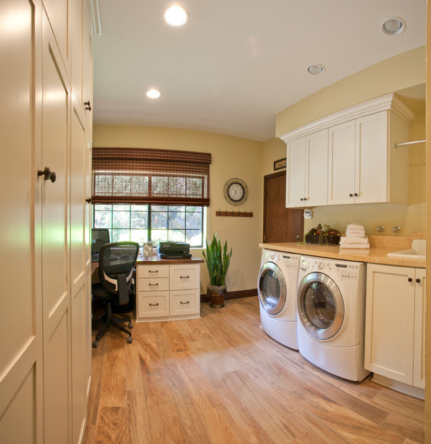 Laundry Room Home Office Transitional Utility Room