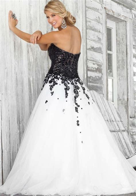 black and white wedding dress     prom/2488 organza