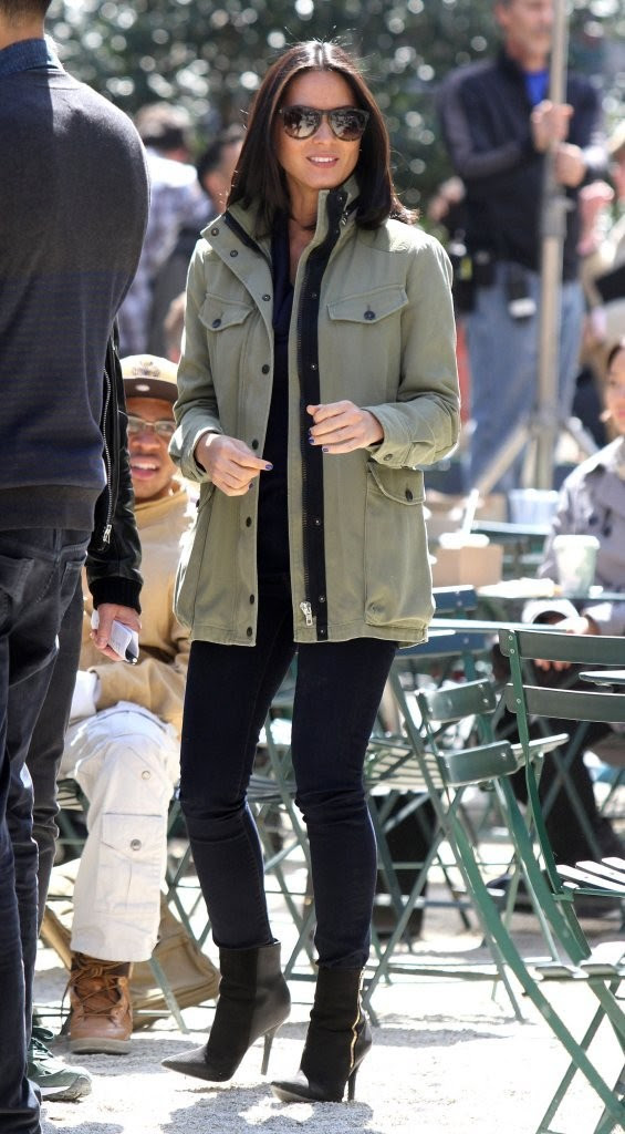 Olivia Munn - 'The Newsroom' Cast Films in NYC