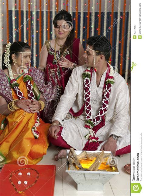 Rituals In Indian Hindu Wedding Stock Photo   Image: 40319383