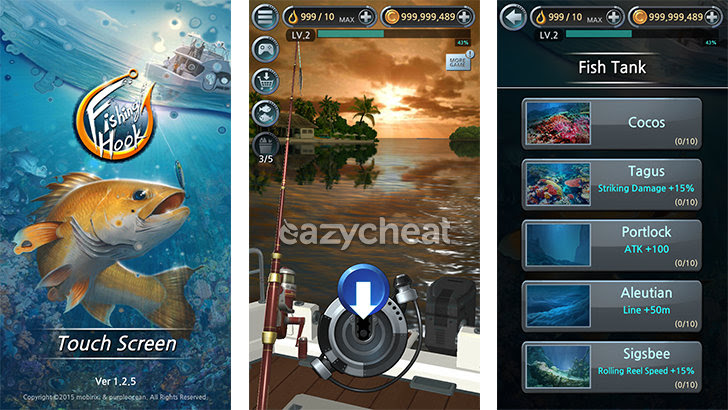 Fishing Hook v1.2.5 Cheats