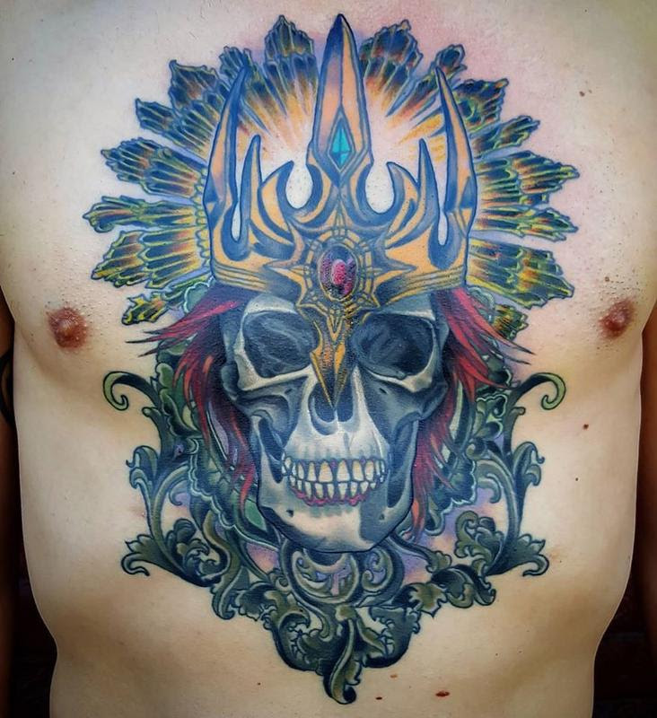 Skull And Crown Tattoo Custom Tattoos By Adam Sky San Francisco
