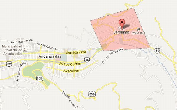 Andahuaylas, Apurímac, Sutep, Conare-Sutep