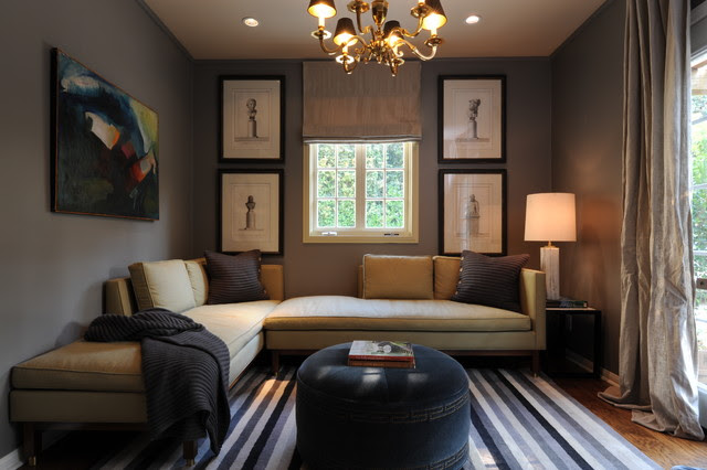 Sophisticated Den - transitional - family room - los angeles - by ...