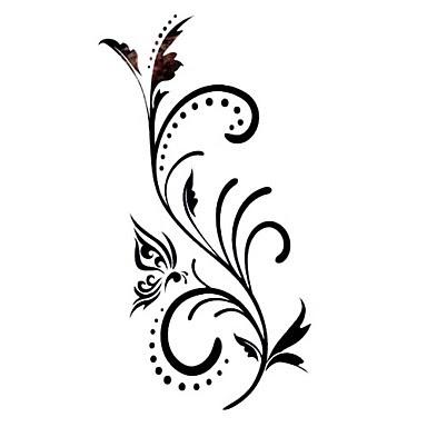 5 stk blomst vandt t midlertidig tatovering 12 5 cm 6 5 cm