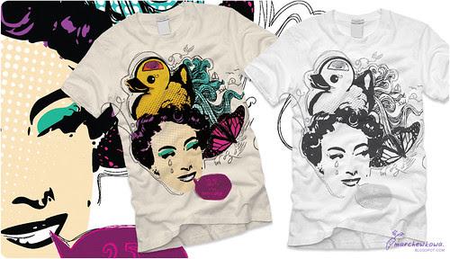 ♥ marchewkowa.blogspot.com, fashion blog, vintage, retro, T-shirt design
