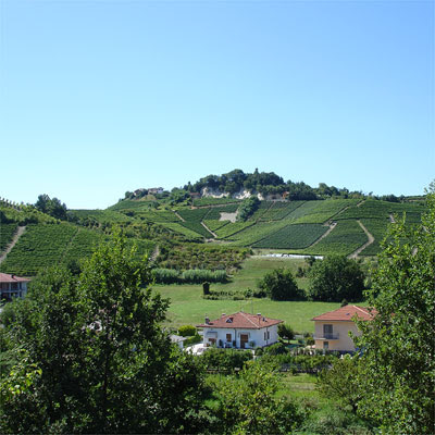 Amphitheater-like landscape of Roero