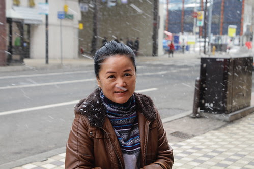 Mom and Sapporo snow